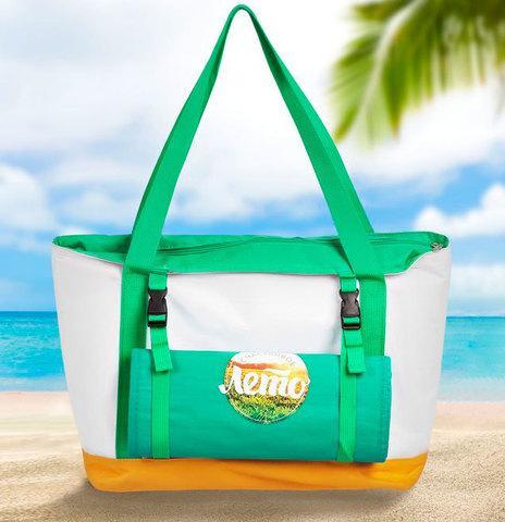 Сумка-термос пляжная с подстилкой-циновкой «KOMANDOR»