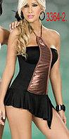 Клубное черное секси платье