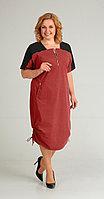 Платье Диамант-1430/1, красный, 52