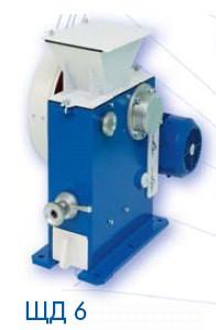 Дробилка щековая ЩД 6 (200 кг/час; 380В; исходная / конечная крупность - 6-50 / 2-3 мм)
