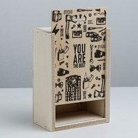 Ящик подарочный деревянный The best, 20 x 14 x 8 см