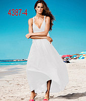 Пляжное платье длинное на бретельках