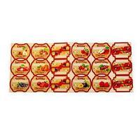 Набор цветных этикеток для домашних заготовок из ягод и фруктов 6.4x5.2 см