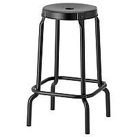 Барный табурет РОСКУГ 63 см. черный ИКЕА, IKEA , фото 1