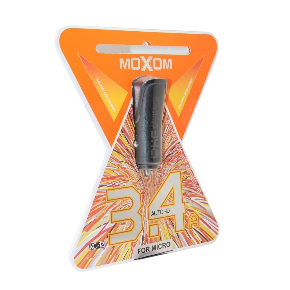 Автомобильное зарядное устройство Moxom KC-12 Micro USB, Samsung USB, Xiaomi USB