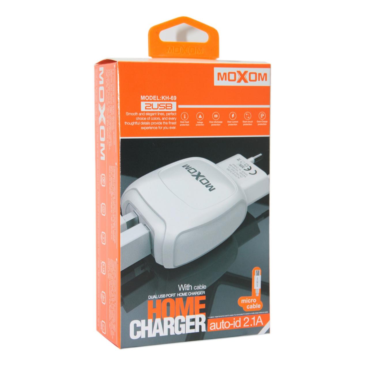 Зарядное устройство Moxom KH-69 Micro USB, Samsung