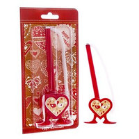 Фигурная ручка 'Пиши с любовью' на подставке