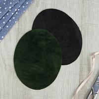 Заплатки для одежды, 14,3 x 11,1 см, термоклеевые, пара, цвет 'хаки' (комплект из 4 шт.)