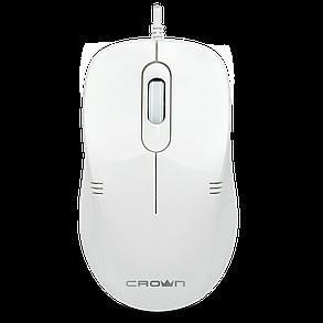 Мышь проводная CMM-502 White (Бесшумная мышь), фото 2