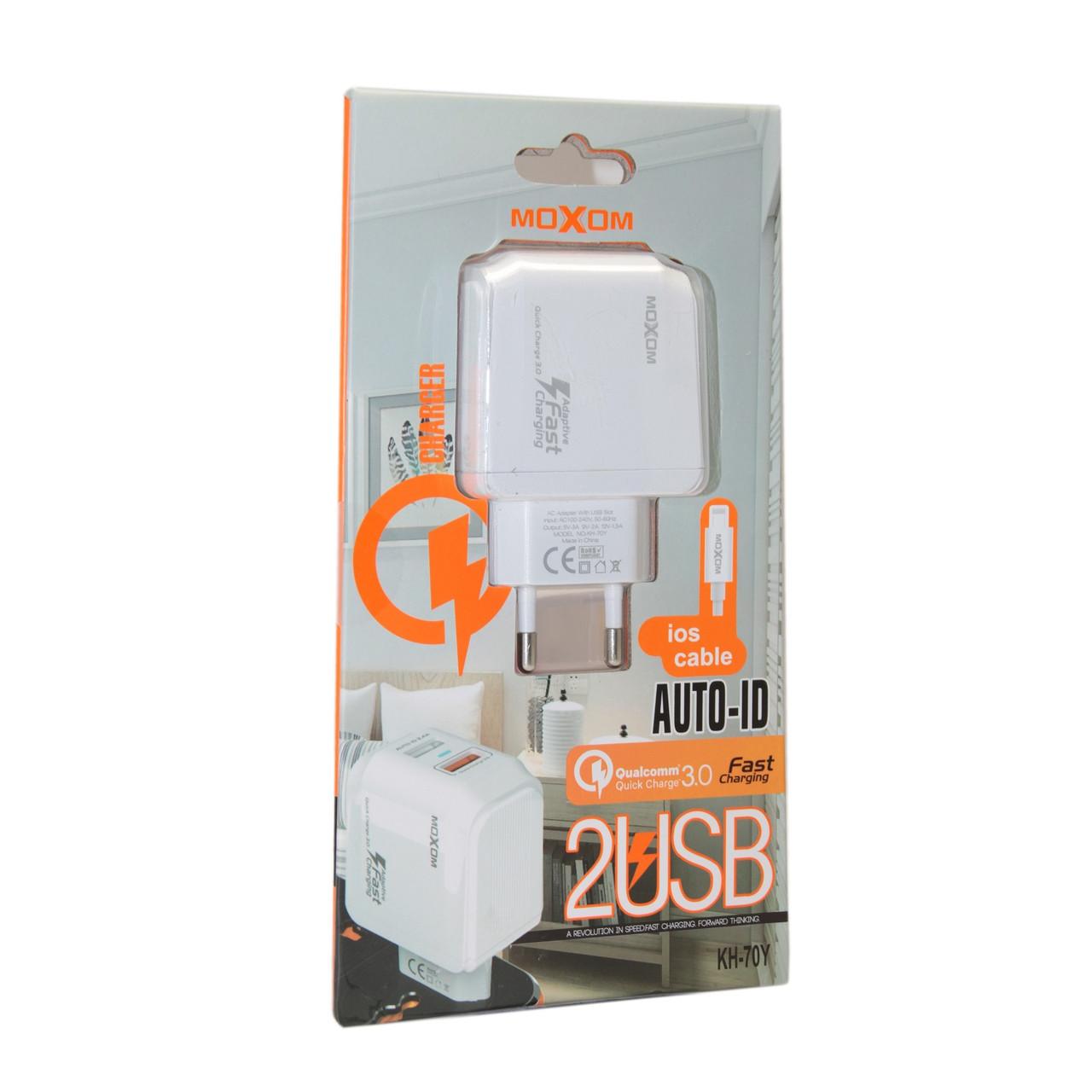 Зарядное устройство Moxom KH-70Y Lightning, iPhone