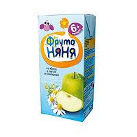 """Напиток """"Фруто Няня"""" сокосодержащий из яблок с экстрактами липы и ромашки для питания детей 200 мл"""