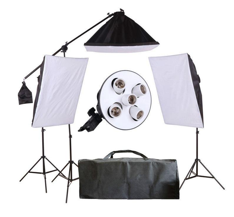 3-х софтбокса 60 × 90 см на 5 ламп 175W со стойками