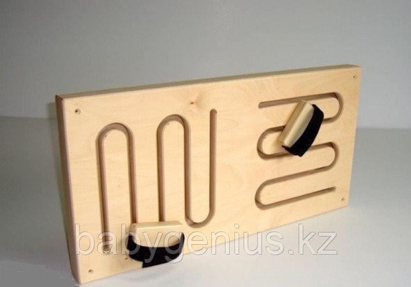 Лабиринт для опорно-двигательного аппарата №1, стеновая сенсорная панель, Лабиринт для ног и рук