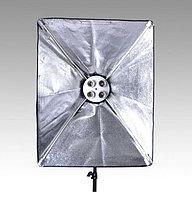 3 студийных софтбокса по 4 лампы в каждом софтбоксе 175W / 50см × 70см  со стойками Итого 12 ламп=2100 Ватт, фото 3