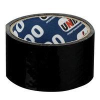 Клейкая лента упаковочная 48 мм х 24 м, 45 мкм UNIBOB 600 (черная)