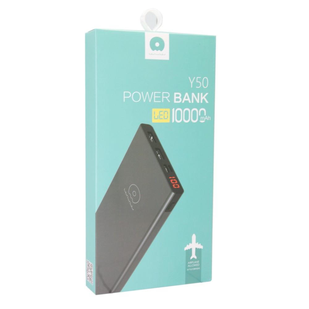 Внешний аккумулятор Power Bank WUW Y50 10000 mah Silver