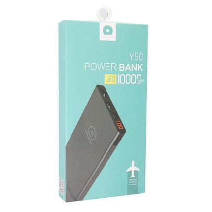 Внешний аккумулятор Power Bank WUW Y50 10000 mah Silver, фото 2