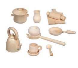 Деревянная игрушка «Посудка» кукольная