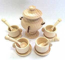 Деревянная игрушка «Чайный сервиз» кукольный