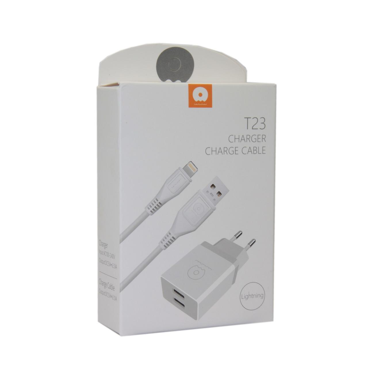 Зарядное устройство WUW T23 Lightning Apple iPhone, iPad
