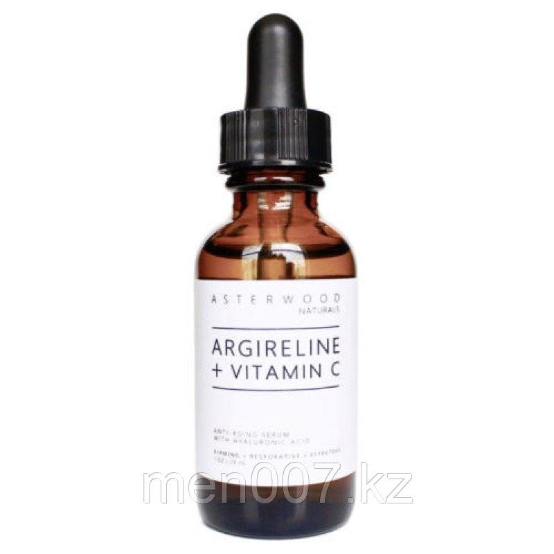 Сыворотка антивозрастная Asterwood Naturals с гиалуроновой кислотой, аргирелином и витамином С. 30 мл