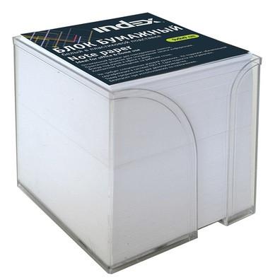 Блок для записей INDEX в подставке белый 9х9х9 см