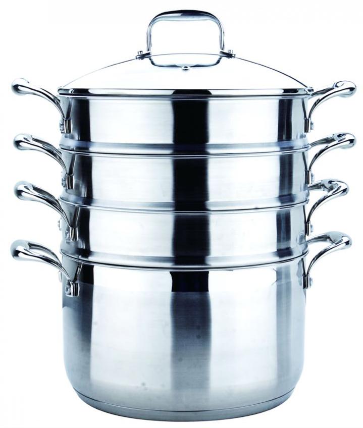 Пароварка трехъярусная Nice Cooker granhel steel 18/10 28 см., 9,8 л.