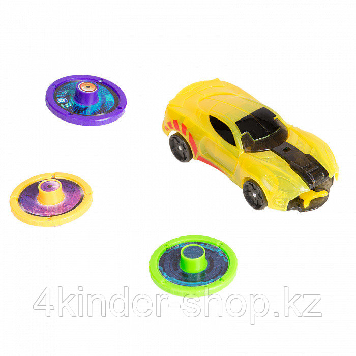 Игровой набор Дикие Скричеры - Бластер для дисков и машинка Спаркбаг Жук - фото 3