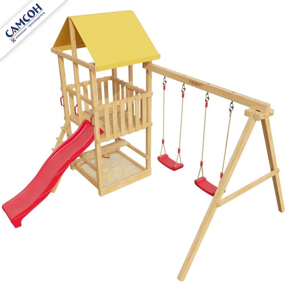 Детская игровая деревянная площадка 3-й Элемент