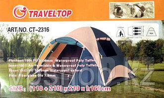 Трехместная палатка для кемпинга TravelTop CT-2316, доставка