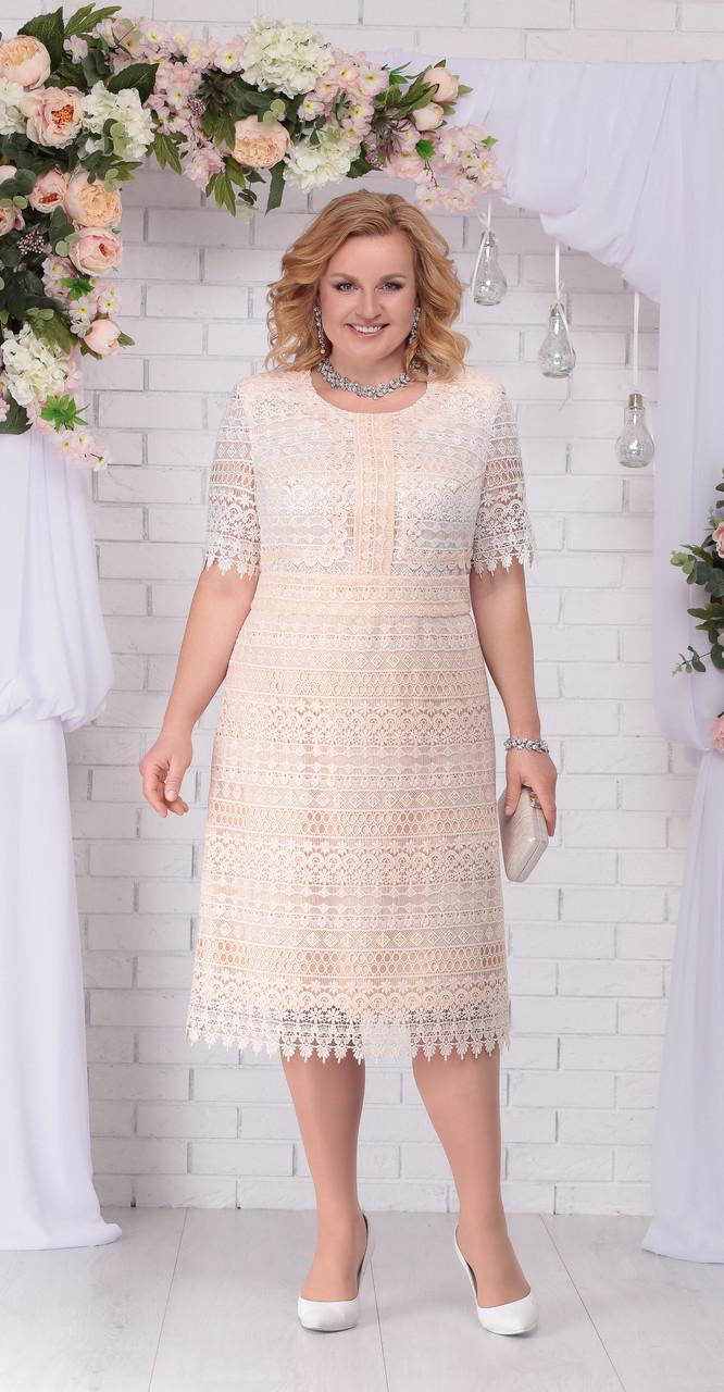 Платье Ninele-2203, бежевый, 54