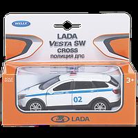 1/34 Welly Металлическая модель Lada Vesta SW CROSS Полиция ДПС