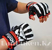 Перчатки MMA (шингарты) WOLON скелет 10 OZ (черные) , фото 1