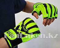 Перчатки MMA (шингарты) WOLON скелет 10 OZ (зеленые)