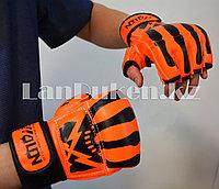 Перчатки MMA (шингарты) WOLON скелет 10 OZ (оранжевые)