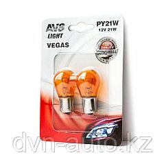 "Лампа AVS Vegas в блистере 12V. PY21W (BAU15S) ""orange"" (2 шт.)"