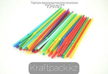 Трубочки для коктейля (Тонкие) 5*240  цветные с гофрой (500/5000)