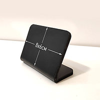 Ценник черный, меловой 8х6см