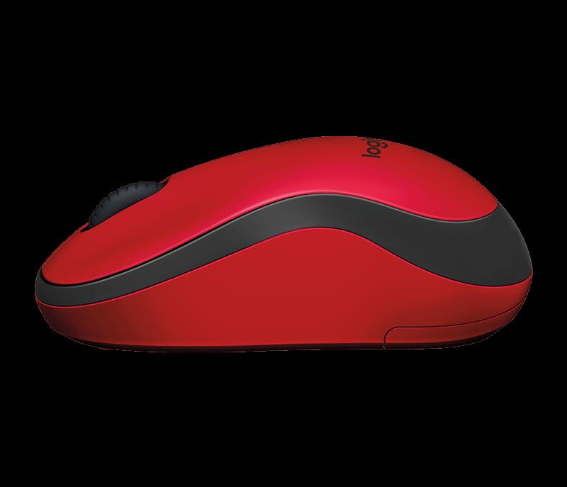 Logitech 910-004880 M220 SILENT беспроводная мышь бесшумная красная
