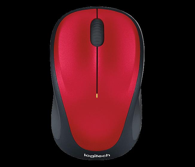 Logitech 910-002496 M235 Беспроводная мышка  Red
