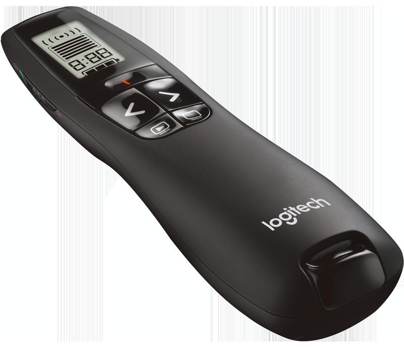Logitech 910-003506 R700 Презентер Professional Presenter с ЖК-дисплеем, облегчающим хронометраж
