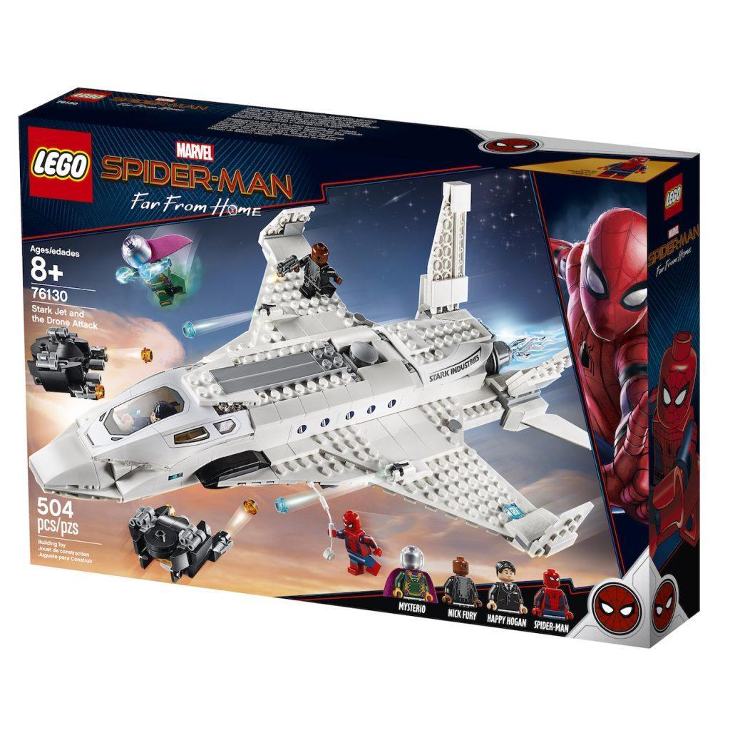 76130 Lego Super Heroes Реактивный самолёта Старка и атака дрона, Лего Супергерои Marvel