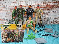 Набор игрушек Mission Combat ( 5 солдатов с декорациями), фото 1