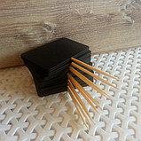 Ценник черный, меловый размером с визитку, фото 2