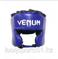 Закрытый боксерский шлем кожа Venum