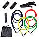 Универсальный эспандер резиновый трубчатый с ручками (комплект), фото 3