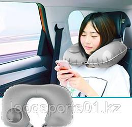 Надувная дорожная подушка для шеи под голову