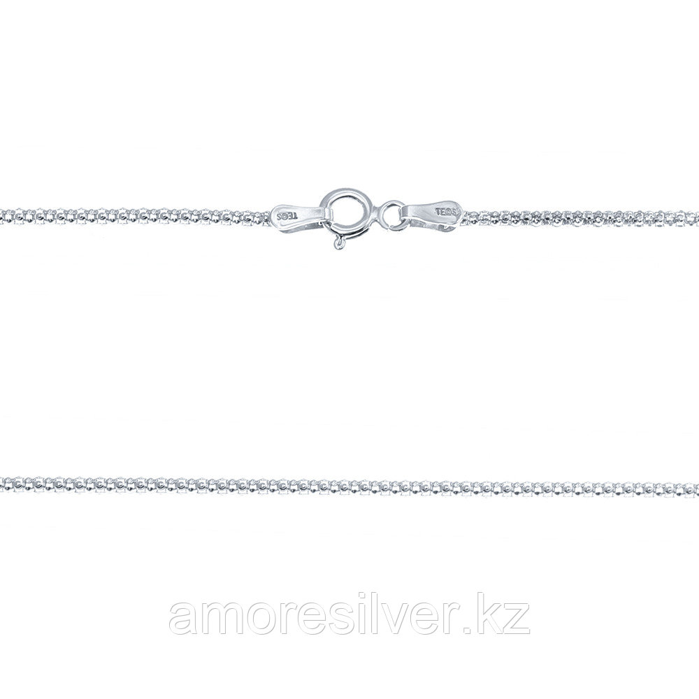 Цепь Teosa серебро с родием, без вставок, фантазийная 16AGB-50