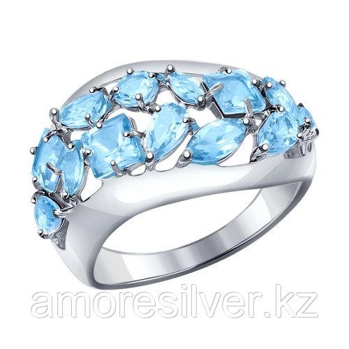 Серебряное кольцо с топазом   SOKOLOV 92011196