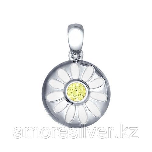 Подвеска SOKOLOV серебро с родием, фианит, флора 94031691
